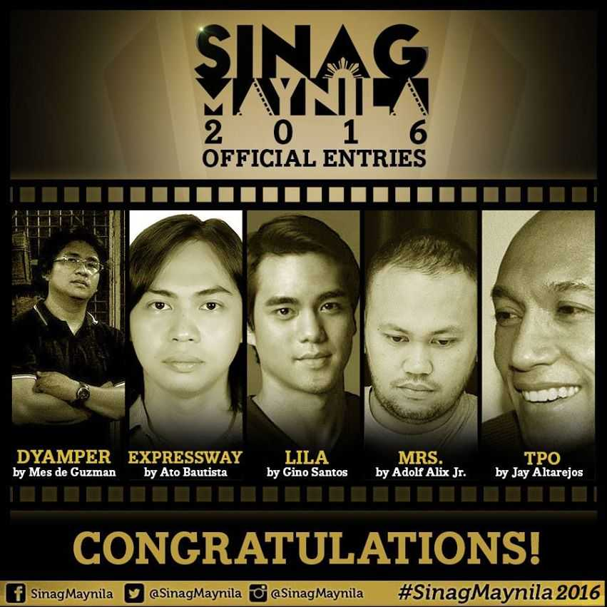 Sinag Maynila 2015 Finalists
