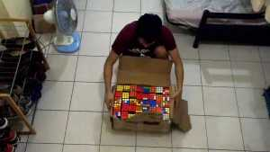 The Rubik's cubes and their master
