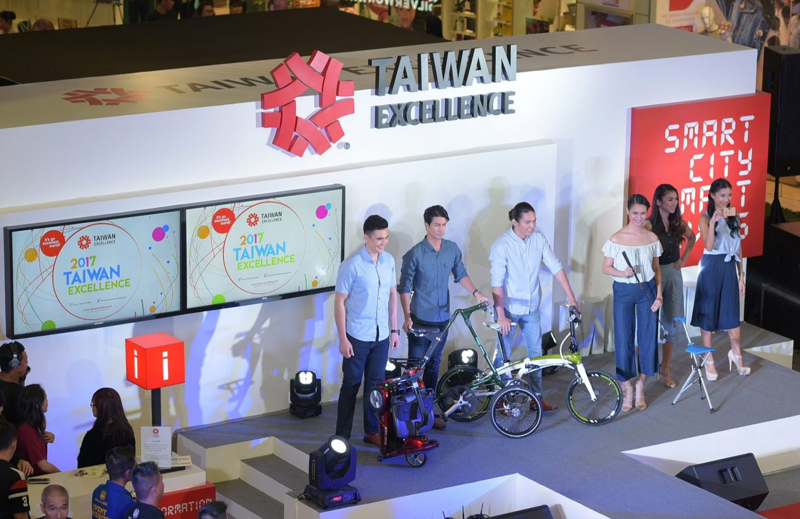 Fashion shows feature the stylish new products at the Taiwan Excellence Experience Zone
