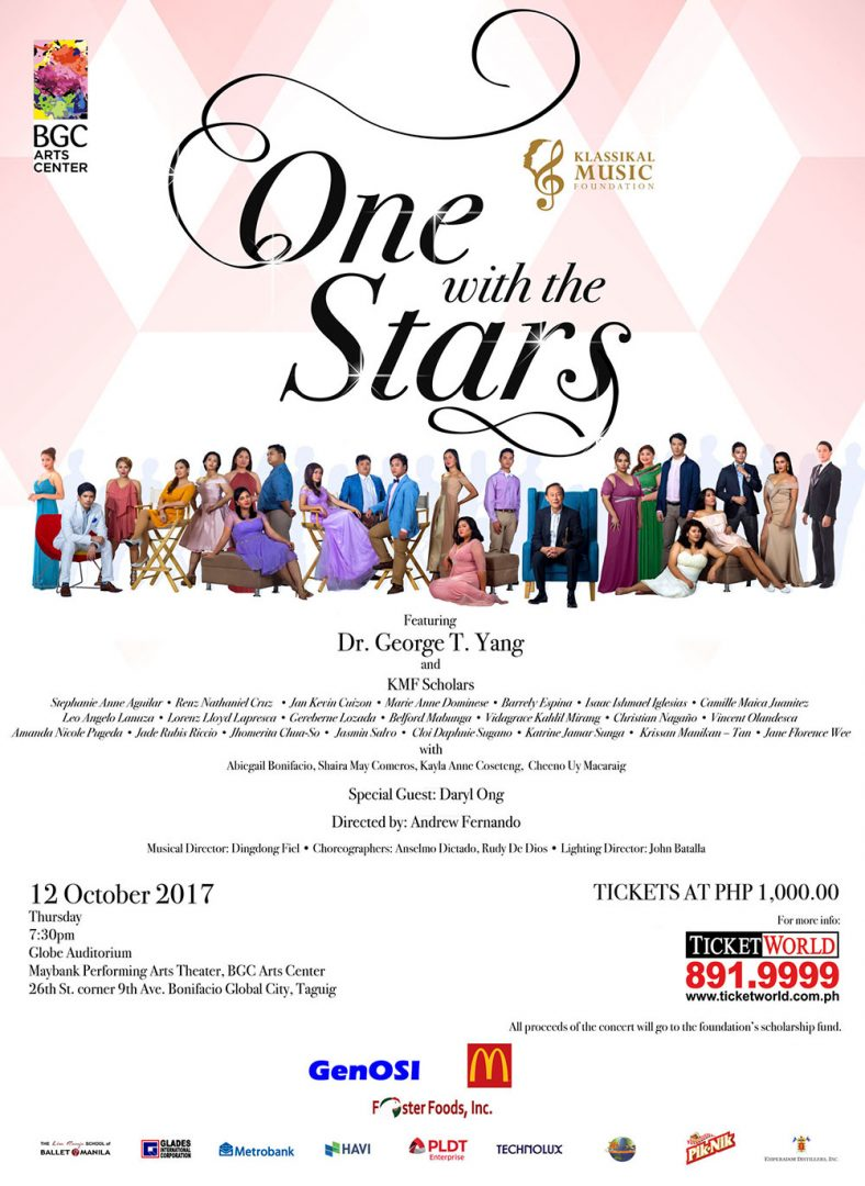 Klassikal Music Foundation's (KMF) One with the Stars Concert Poster