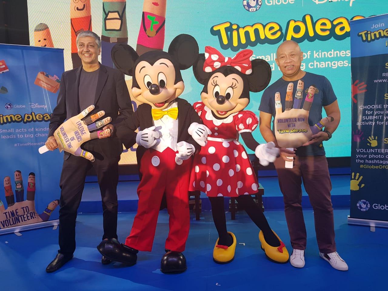 "Globe, Disney spearhead ""Time Please"" nationwide volunteering program"