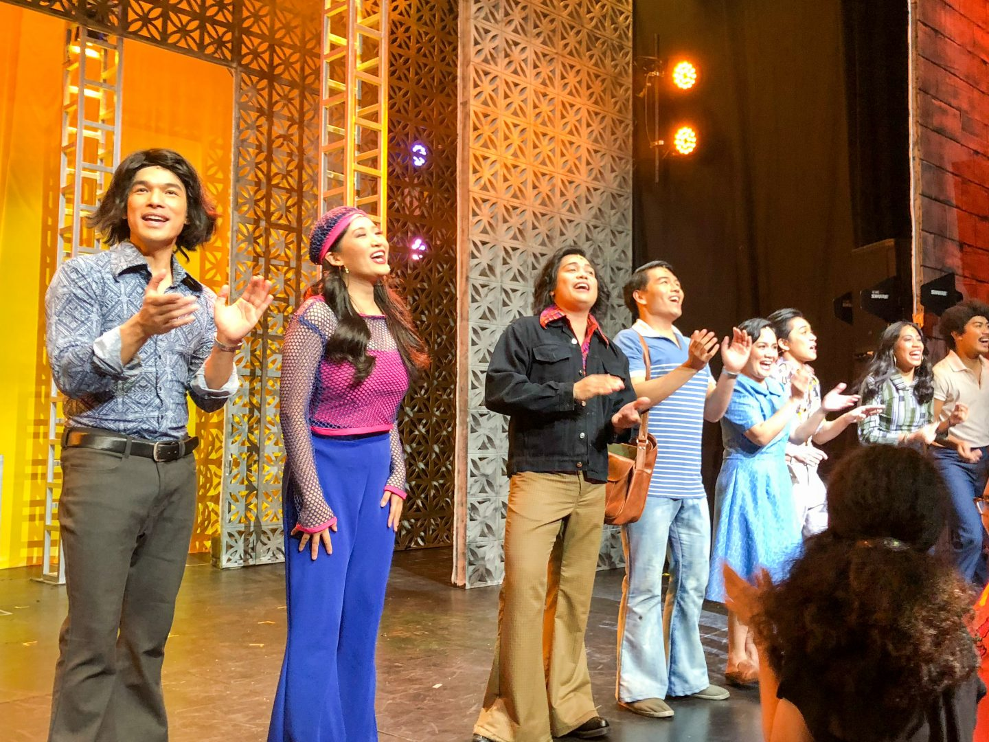 The cast of 9 Works Theatrical and Globe Live's Eto Na! Musikal nAPO! the APO Hiking Society Musical