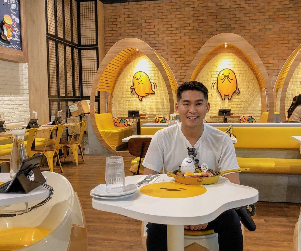 Breakfast at Gudetama Cafe Singapore